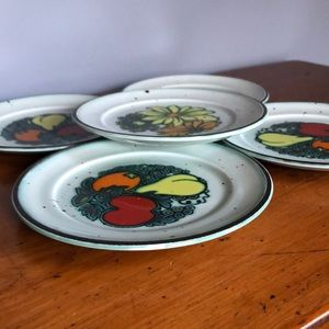 Johnson Brothers Stoneware Pimlico Bread Plates Vintage Art Nouveau English Pottery Vintage Stoneware Bread Plates